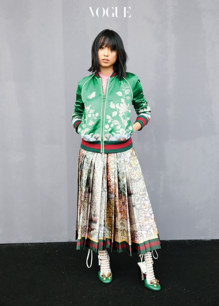 MILAN, ITALY - FEBRUARY 24:  Margaret Zhang attends the Gucci show during Milan Fashion Week Fall/Winter 2016/17 on February 24, 2016 in Milan, Italy.  (Photo by Vittorio Zunino Celotto/Getty Images for GUCCI)