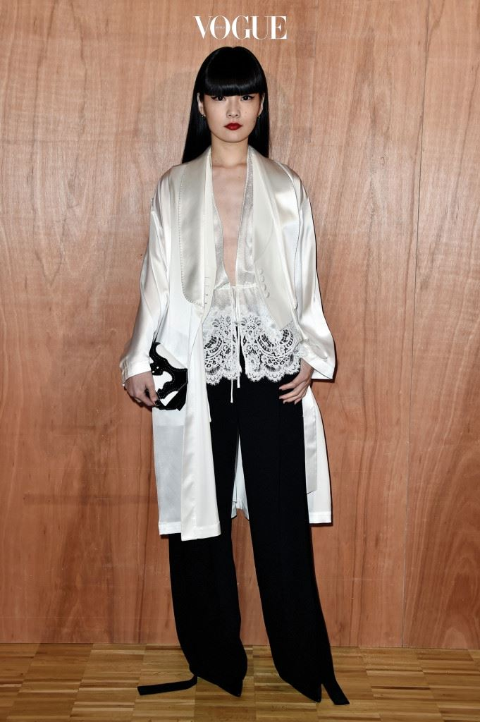 PARIS, FRANCE - MARCH 06:  Akimoto Kozue attends the Givenchy show as part of the Paris Fashion Week Womenswear Fall/Winter 2016/2017 on March 6, 2016 in Paris, France.  (Photo by Pascal Le Segretain/Getty Images)