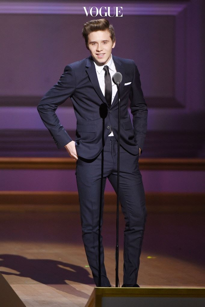 NEW YORK, NY - NOVEMBER 09:  Brooklyn Beckham speaks onstage at the 2015 Glamour Women of the Year Awards on November 9, 2015 in New York City.  (Photo by Larry Busacca/Getty Images for Glamour)