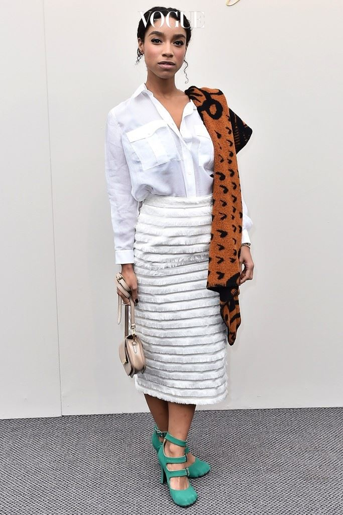 LONDON, ENGLAND - FEBRUARY 22:  Lianne La Havas wearing Burberry at the Burberry Womenswear February 2016 Show at Kensington Gardens on February 22, 2016 in London, England.  (Photo by Gareth Cattermole/Getty Images for Burberry)
