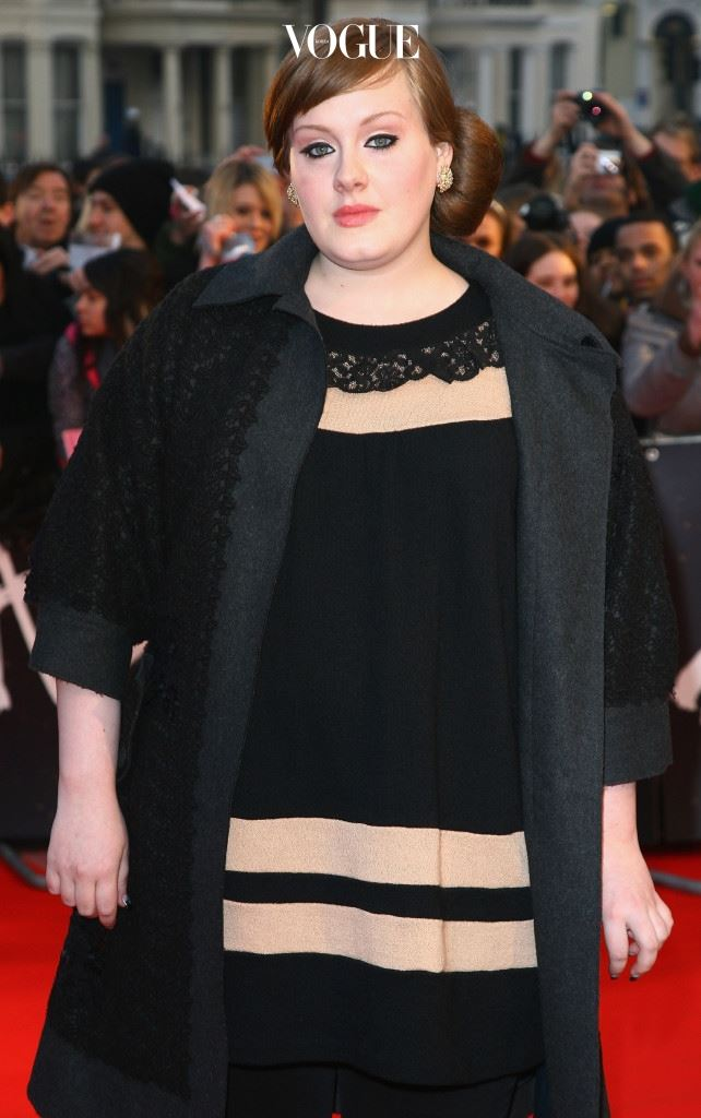 LONDON - FEBRUARY 20:  Singer, Adele arrives at the Brit Awards 2008 at Earls Court on February 20, 2008 in London, England.  (Photo by Gareth Cattermole/Getty Images)