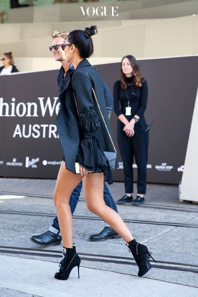 SYDNEY, AUSTRALIA - MAY 16:  Lindy Klim, wearing an Ellery jacket, arrives ahead of the Ginger and Smart show at Mercedes-Benz Fashion Week Resort 17 Collections at Carriageworks on May 16, 2016 in Sydney, New South Wales.  (Photo by Caroline McCredie/Getty Images)