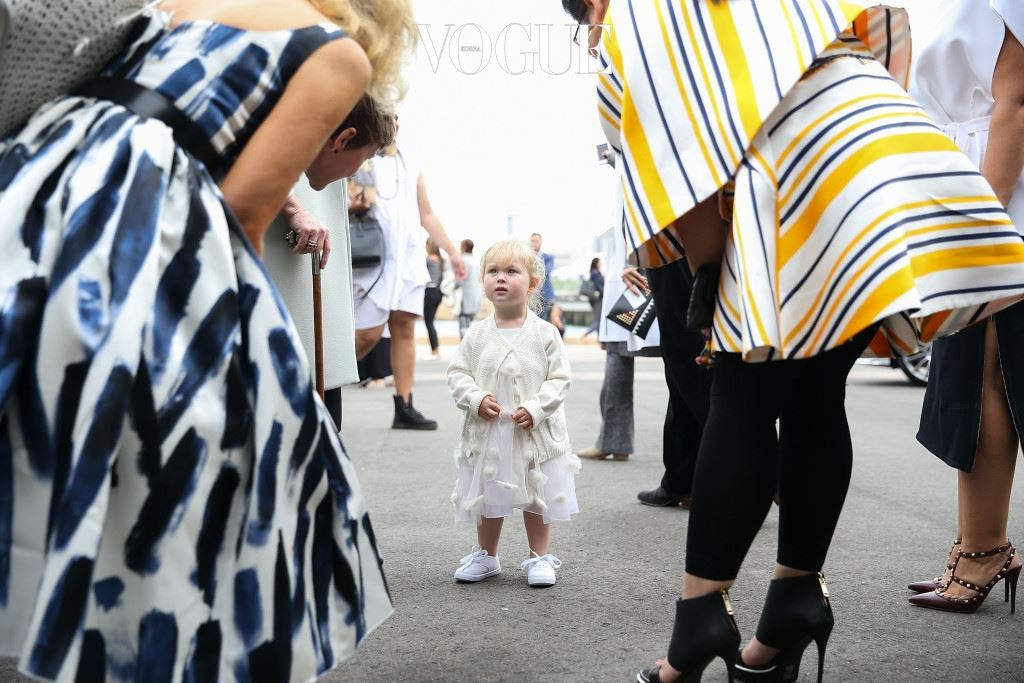 SYDNEY, AUSTRALIA - MAY 15: A little girl wears a design by Toni Maticevski to the Toni Maticevski show at Barangaroo for Mercedes-Benz Fashion Week Resort 17 Collections at Carriageworks on May 15, 2016 in Sydney, New South Wales.  (Photo by Caroline McCredie/Getty Images)