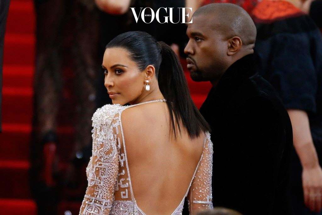 """NEW YORK, NY - MAY 04:  Kanye West and Kim Kardashian  attend """"China: Through The Looking Glass"""" Costume Institute Benefit Gala  at Metropolitan Museum of Art on May 4, 2015 in New York City.  (Photo by John Lamparski/Getty Images)"""