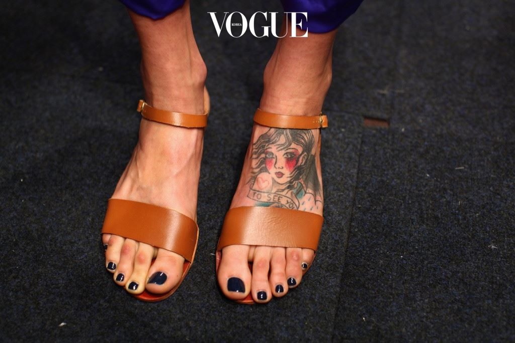SYDNEY, AUSTRALIA - MAY 02:  The feet of a model are seen backstage ahead of the Oroton show on day three of Mercedes-Benz Fashion Week Australia Spring/Summer 2012/13 at Overseas Passenger Terminal on May 2, 2012 in Sydney, Australia.  (Photo by Marianna Massey/Getty Images)