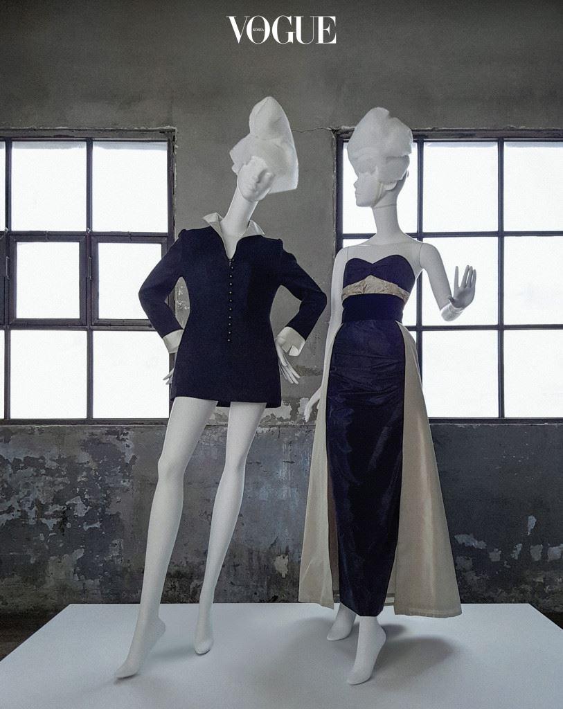 60년대 윤복희가 실제 입었던 옷을 재현해 실크 자카드 소재 칼라와 공단으로 포인트를 준 미니 원피스, 50년대 당시 가수 유정희를 위해 디자인한 타프타 롱 드레스는 노라노(Nora Noh).