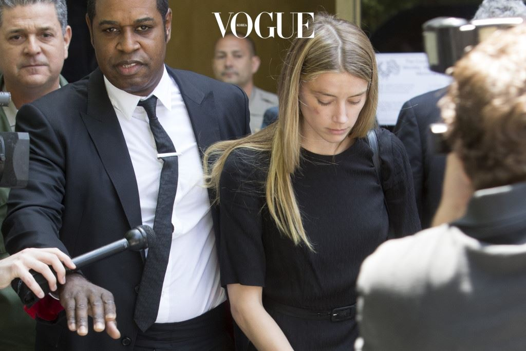 Amber Heard leaves court in Downtown Los Angeles,CA. Amber Heard has been granted a temporary restraining order after accusing her estranged husband Johnny Depp of domestic abuse in a court filing.  Amber had obvious bruises on her face and was visibly shaken by the ordeal. Pictured: Amber Heard Ref: SPL1287558  270516   Picture by: Splash News Splash News and Pictures Los Angeles:310-821-2666 New York:212-619-2666 London:870-934-2666 photodesk@splashnews.com