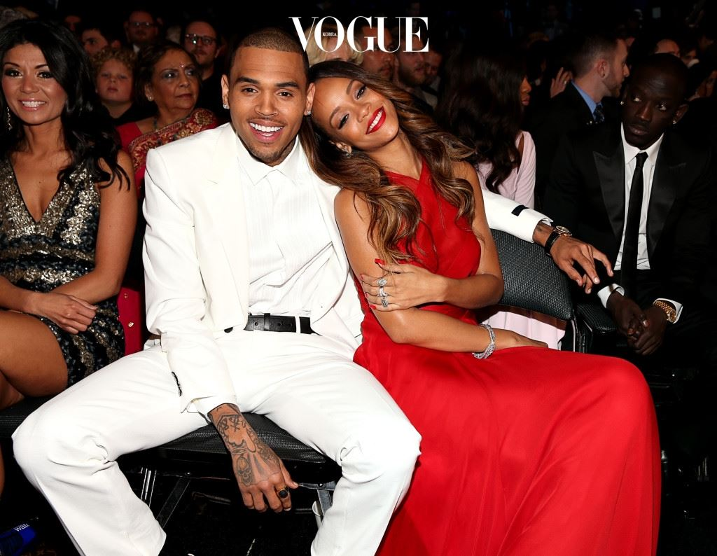 LOS ANGELES, CA - FEBRUARY 10:  Chris Brown and Rihanna attend the 55th Annual GRAMMY Awards at STAPLES Center on February 10, 2013 in Los Angeles, California.  (Photo by Christopher Polk/Getty Images for NARAS)