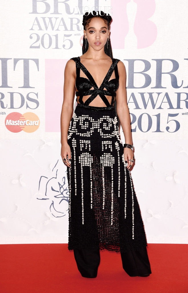 LONDON, ENGLAND - FEBRUARY 25: FKA Twigs attends the BRIT Awards 2015 at The O2 Arena on February 25, 2015 in London, England.  (Photo by Ian Gavan/Getty Images)