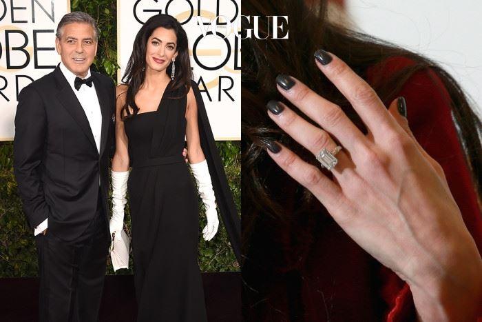 아말 클루니 조지 클루니 $750,000(약 8억 5천만 원) 천하의 바람둥이 조지 클루니를 정착하게한 인권 변호사, 아말 알라무딘. 그녀가 받은 7캐럿, 옐로우 에메랄드 컷 다이아몬드 반지!