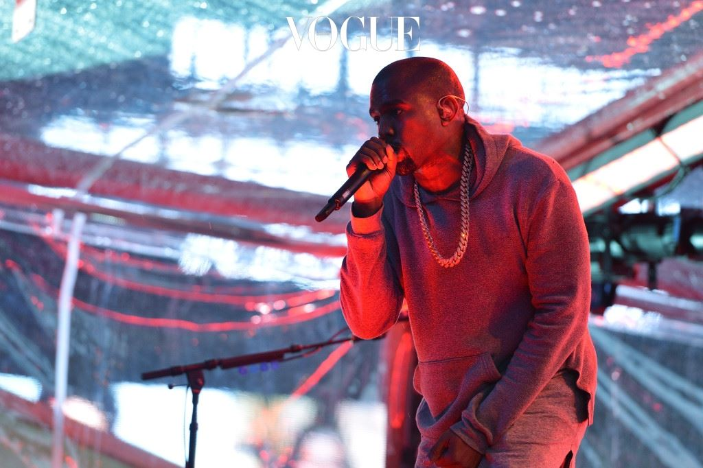 NEW YORK, NY - DECEMBER 01:  Rapper Kanye West performs on World AIDS Day at 'A (RED) Thank You,' presented by (Bank of America)RED on December 1, 2014 in New York City.  (Photo by Slaven Vlasic/Getty Images for (RED))