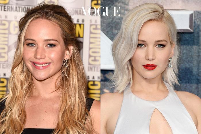 제니퍼 로렌스(Jennifer Lawrence)풋풋했던 여고생 이미지에서 도도한 여배우로 변신! 플래티넘 블론드 컬러도 한 몫했군요.