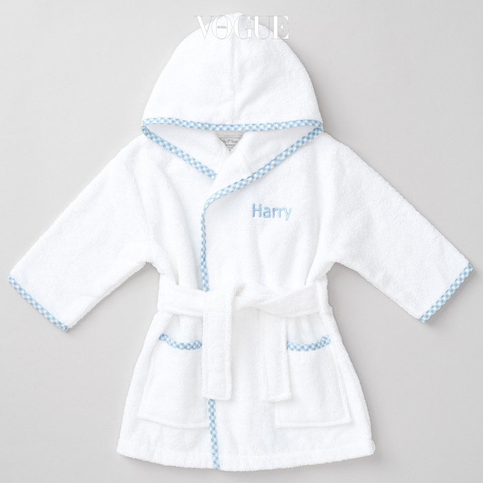 Prince George's bathrobe sold out online within just minutes of the young royal meeting President Barack Obama. The little prince wore a Gingham Blue Trim Robe from 'My 1st Years' when he met Obama and First Lady Michelle in London on Friday. the terry-cotton robe, which is personalized, costs $36, is not out of stock but can be back ordered on the company's website.  Ref: SPL1268392  230416   Picture by: My1stYears / Splash News Splash News and Pictures Los Angeles:310-821-2666 New York:212-619-2666 London:870-934-2666 photodesk@splashnews.com
