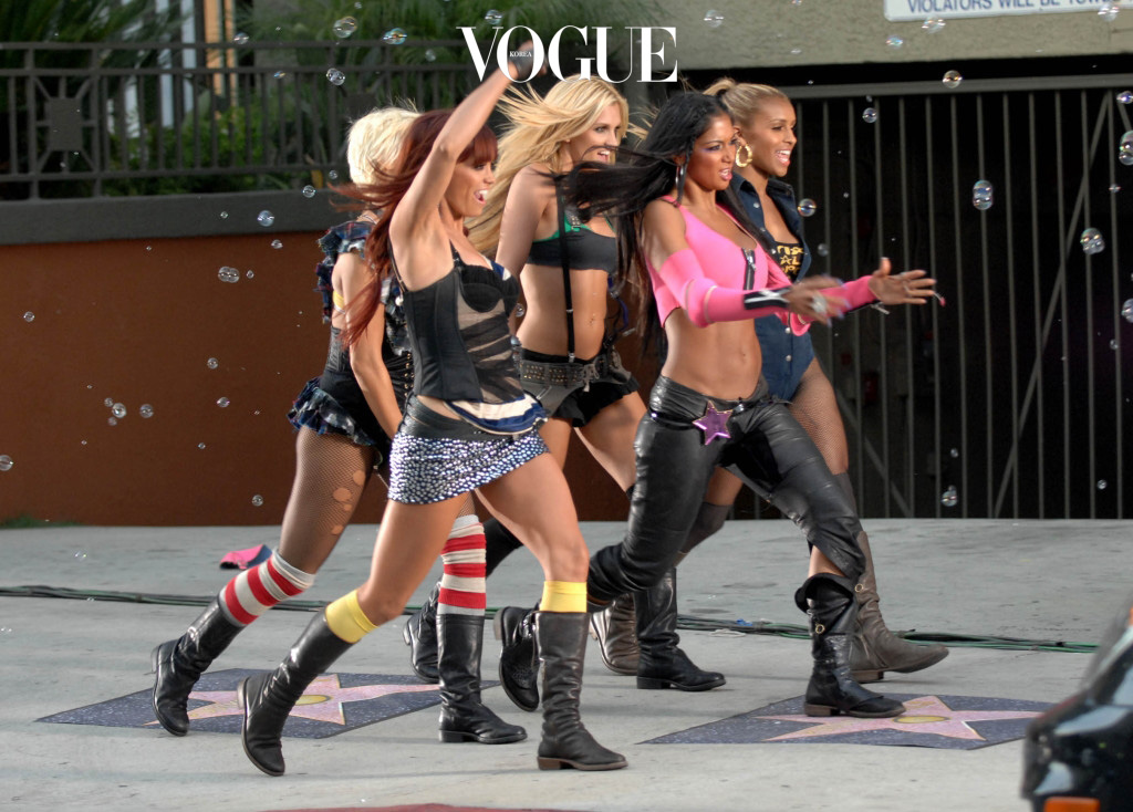 The sexy Pussycat Dolls stun passerbys as they perform their sexy dance routines on the streets of Hollywood whilst shooting a new video.  Pictured: The Pussycat Dolls Ref: SPL34008  040608   Picture by: Whittle/Splash News Splash News and Pictures Los Angeles: 310-821-2666 New York: 212-619-2666 London: 870-934-2666 photodesk@splashnews.com