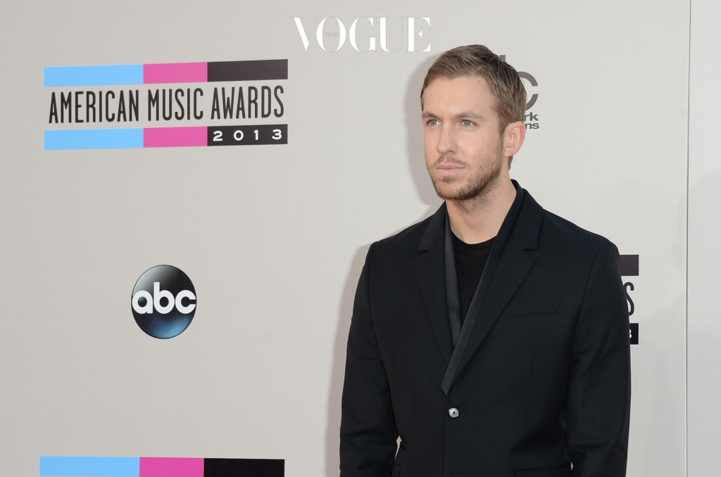 LOS ANGELES, CA - NOVEMBER 24:  Recording artist Calvin Harris attends the 2013 American Music Awards at Nokia Theatre L.A. Live on November 24, 2013 in Los Angeles, California.  (Photo by Jason Merritt/Getty Images)