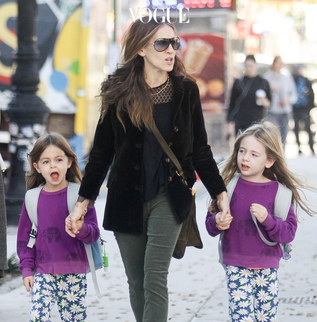 사라 제시카 파커의 쌍둥이 딸, 타비타와 마리온입니다. 깜찍한 이란성 쌍둥이죠