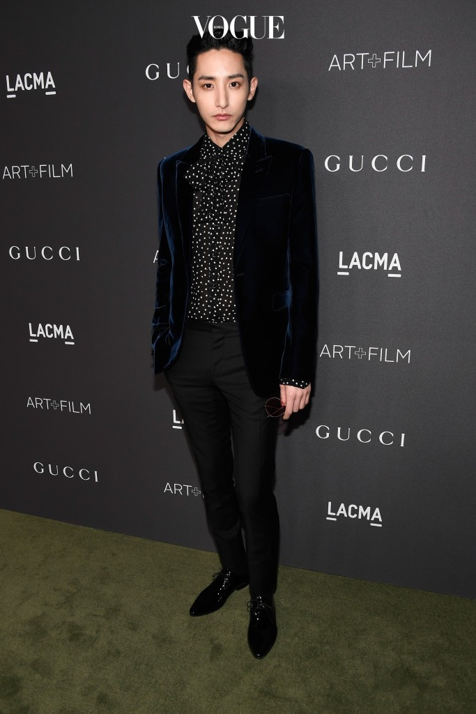 LOS ANGELES, CA - OCTOBER 29:  Actor/model Soo-hyuk Lee attends the 2016 LACMA Art + Film Gala honoring Robert Irwin and Kathryn Bigelow presented by Gucci at LACMA on October 29, 2016 in Los Angeles, California.  (Photo by Frazer Harrison/Getty Images for LACMA)