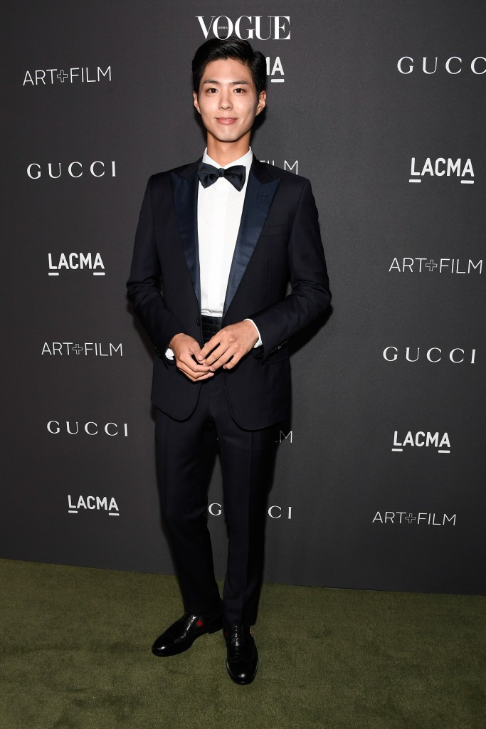 LOS ANGELES, CA - OCTOBER 29:  Actor Park Bo Gum attends the 2016 LACMA Art + Film Gala honoring Robert Irwin and Kathryn Bigelow presented by Gucci at LACMA on October 29, 2016 in Los Angeles, California.  (Photo by Frazer Harrison/Getty Images for LACMA)