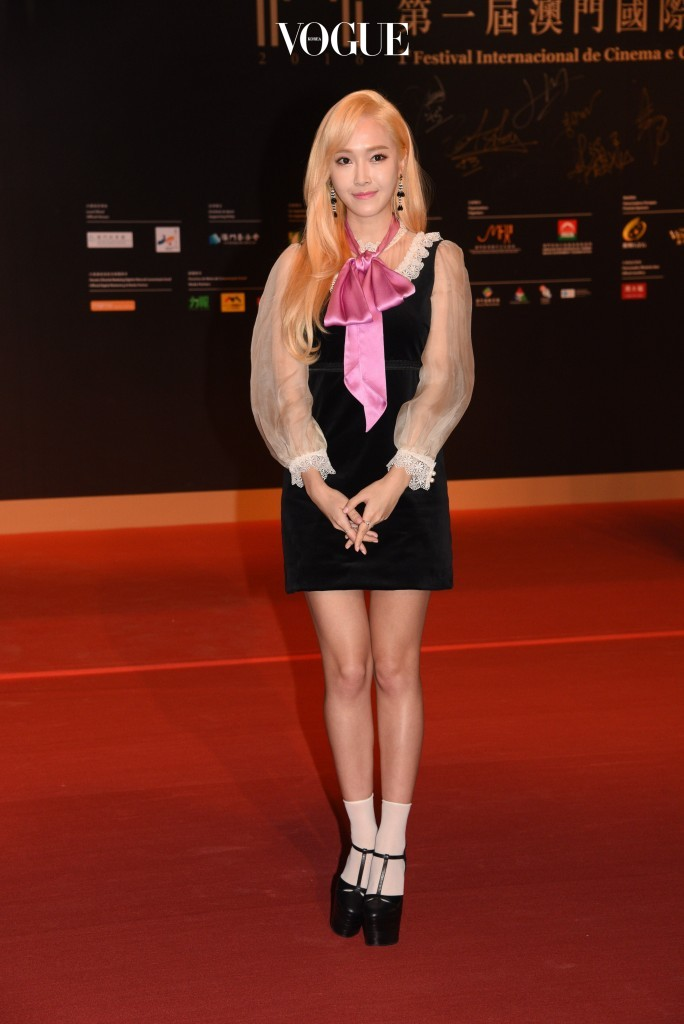 Celebrities attend the 1st Macao International Film Awards in Macao, China. Pictured: Jessica Jung Ref: SPL1407606  081216   Picture by: ?TPG / Splash News Splash News and Pictures Los Angeles:310-821-2666 New York:212-619-2666 London:870-934-2666 photodesk@splashnews.com