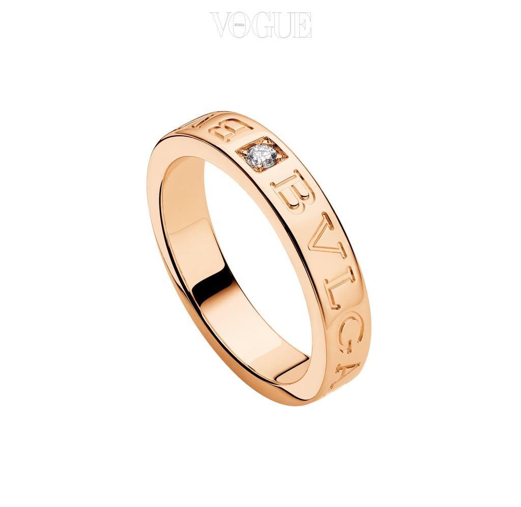 Bulgari핑크 골드에 다이아몬드가 세팅된 불가리 반지. 200만원대