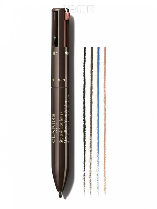 클라란스 포 칼라 올인원 펜 ( Clarins 4-Colour All-in-One Pen)  아이라인은 어느 색을 사야하지? 이제 고민은 그만. 4가지 색상이 하나의 펜 안에! 학창시절 즐겨 쓰던 펜 모양을 쏙 닮았네요. 국내 출시는 좀더 기다려봐야겠군요.