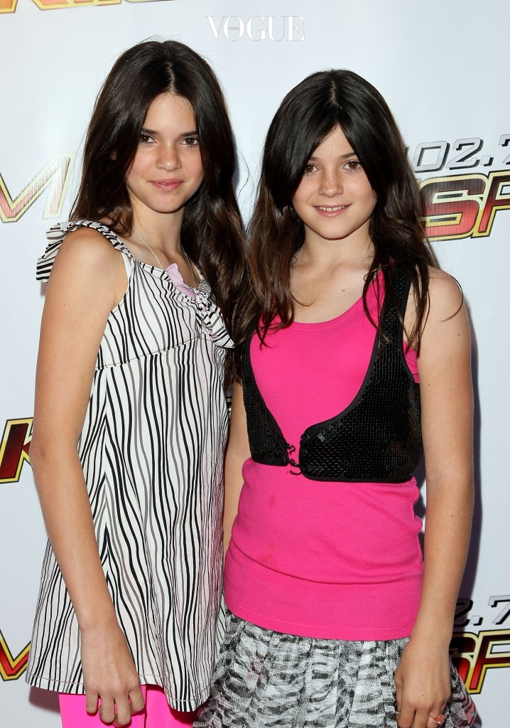 IRVINE, CA - MAY 10:  TV personalities Kendall Jenner and Kylie Jenner arrive at the KIIS-FM's 2008 Wango Tango concert held at the Verizon Wireless Amphitheater on May 10, 2008 in Irvine, California.  (Photo by Noel Vasquez/Getty Images)
