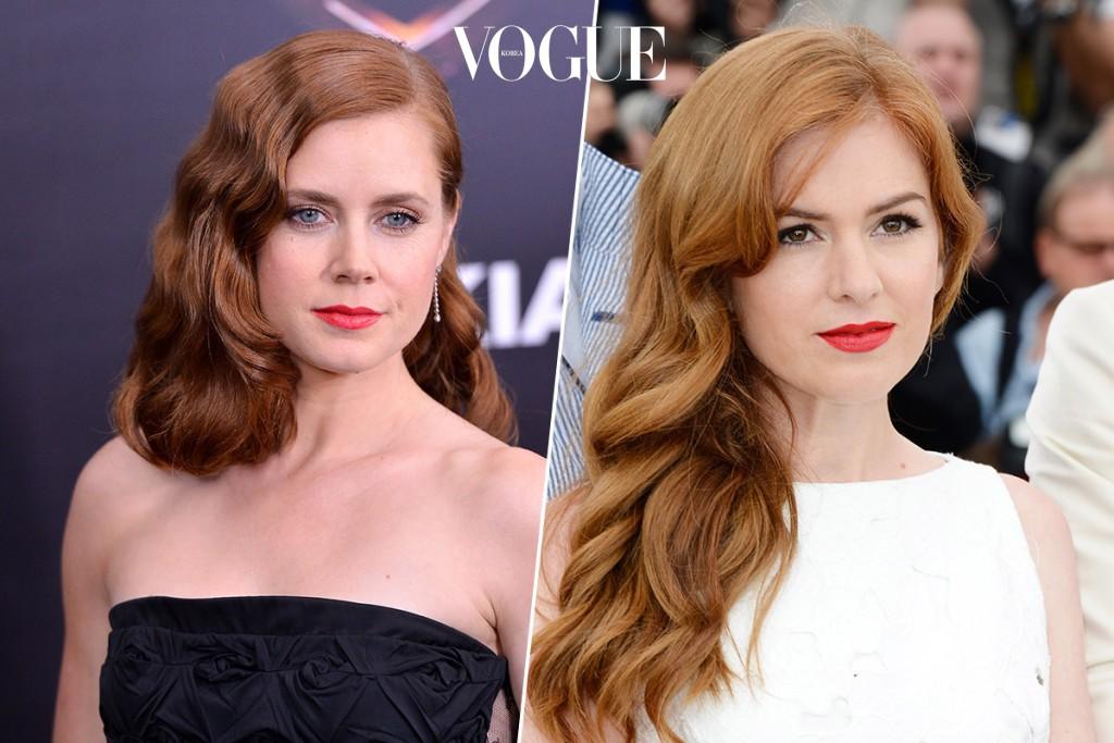 붉은기가 도는 자연머리 색깔까지 닮은 이 둘은 할리우드 대표 닮은꼴로 통합니다.