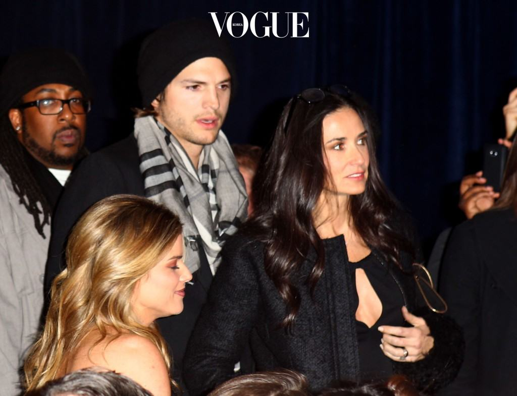 DALLAS, TX - FEBRUARY 04:  Actors Ashton Kutcher and Demi Moore attend The Black Eyed Peas Super Bowl Party presented by Sports Illustrated and Bacardi at Music Hall At Fair Park on February 4, 2011 in Dallas, Texas.  (Photo by Joe Scarnici/Getty Images for Bacardi)