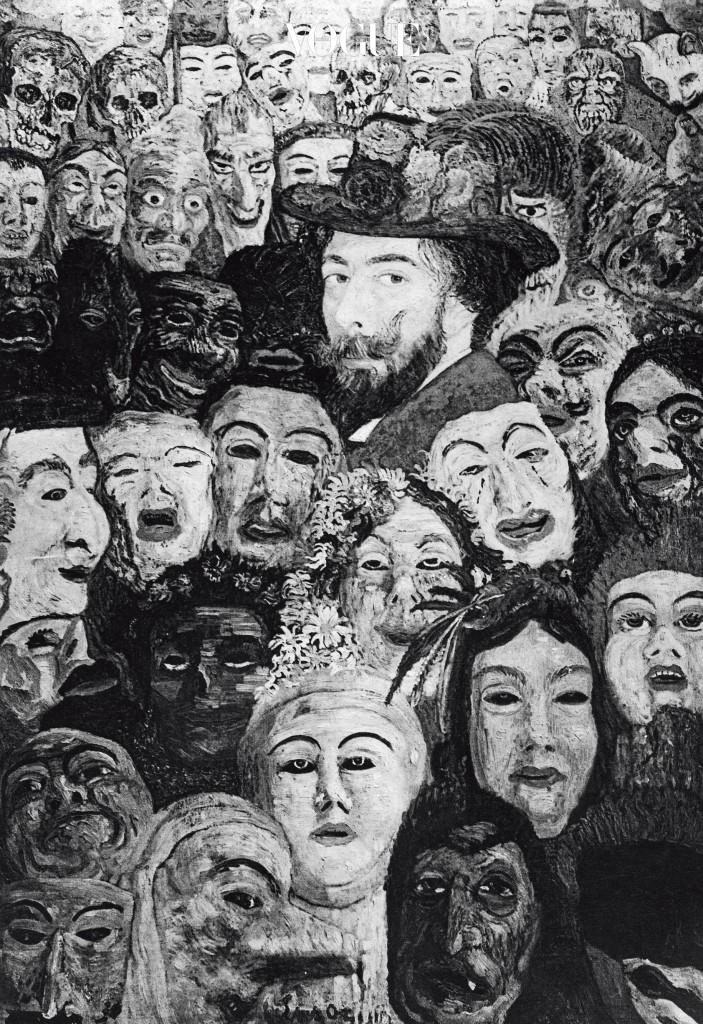 James Ensor, 'My Portrait Surrounded by Masks'(1899).