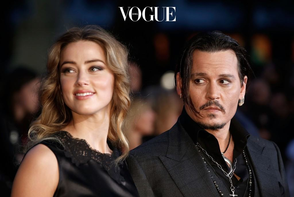 """LONDON, ENGLAND - OCTOBER 11:  Amber Heard and Johnny Depp attend the """"Black Mass"""" Virgin Atlantic Gala screening during the BFI London Film Festival, at Odeon Leicester Square on October 11, 2015 in London, England.  (Photo by John Phillips/Getty Images for BFI)"""