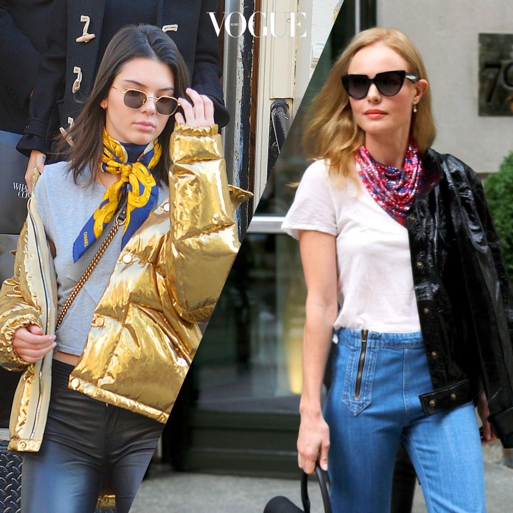 10 스카프로 시선 끌어올리기 Kendall Jenner/ Kate Bosworth