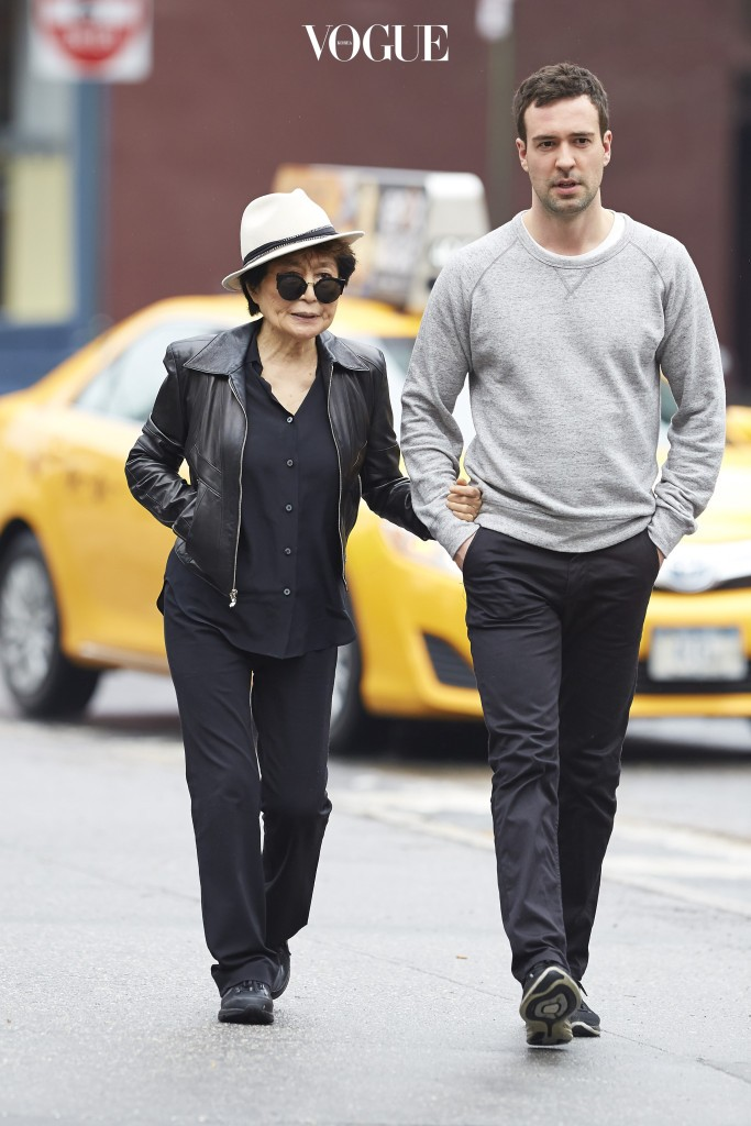 Yoko Ono spotted enjoying a walk around the West Village of NYC. Pictured: Yoko Ono Ref: SPL991583  030415   Picture by: J. Webber / Splash News Splash News and Pictures Los Angeles:310-821-2666 New York:212-619-2666 London:870-934-2666 photodesk@splashnews.com