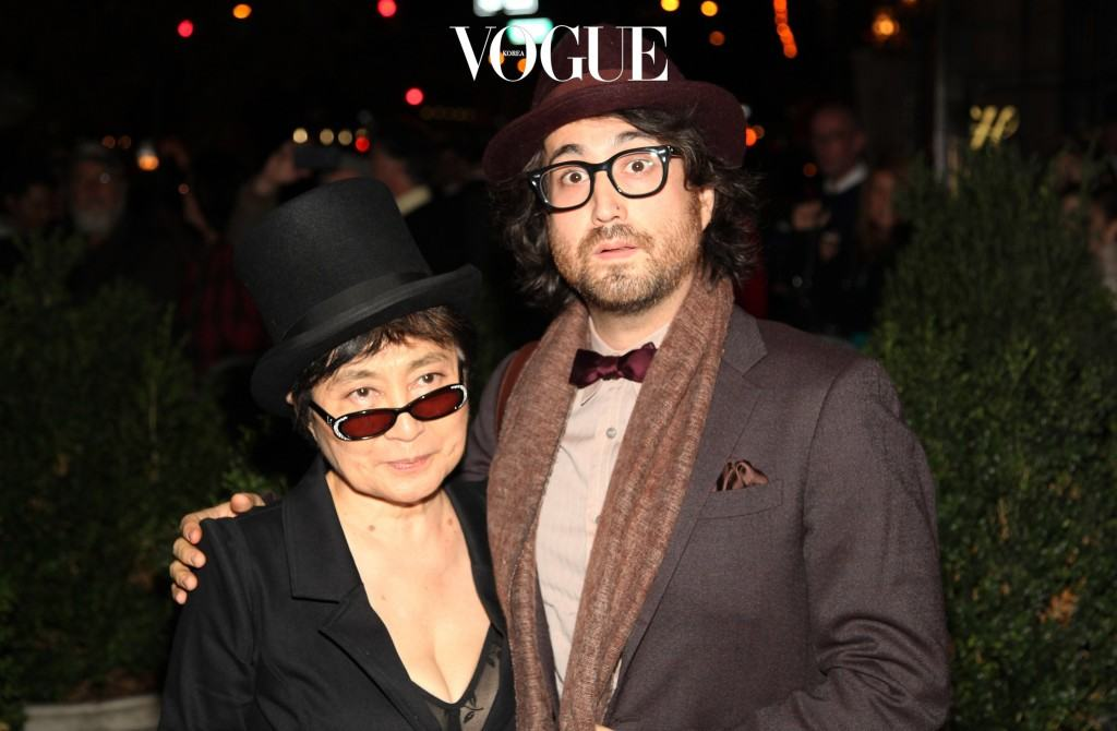 NEW YORK, NY - OCTOBER 21:  Yoko Ono and Sean Lennon attend Paul McCartney's & Nancy Shevell's party at The Bowery Hotel on October 21, 2011 in New York City.  (Photo by Paul Zimmerman/Getty Images)