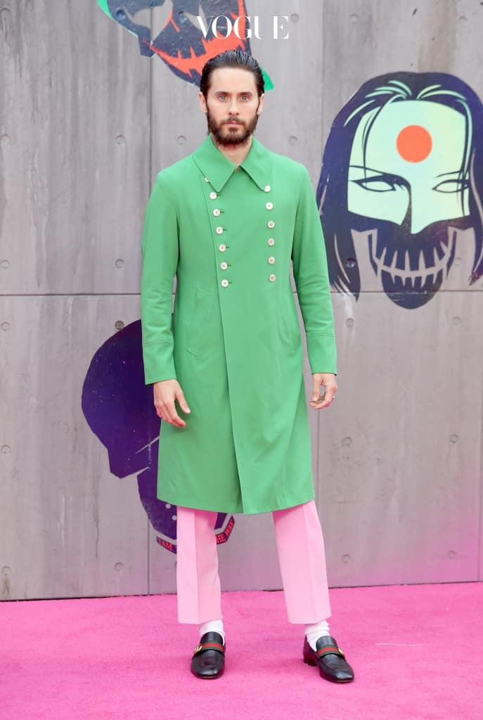 """LONDON, ENGLAND - AUGUST 03:  Jared Leto attends the European Premiere of """"Suicide Squad"""" at the Odeon Leicester Square on August 3, 2016 in London, England.  (Photo by Chris Jackson/Getty Images)"""