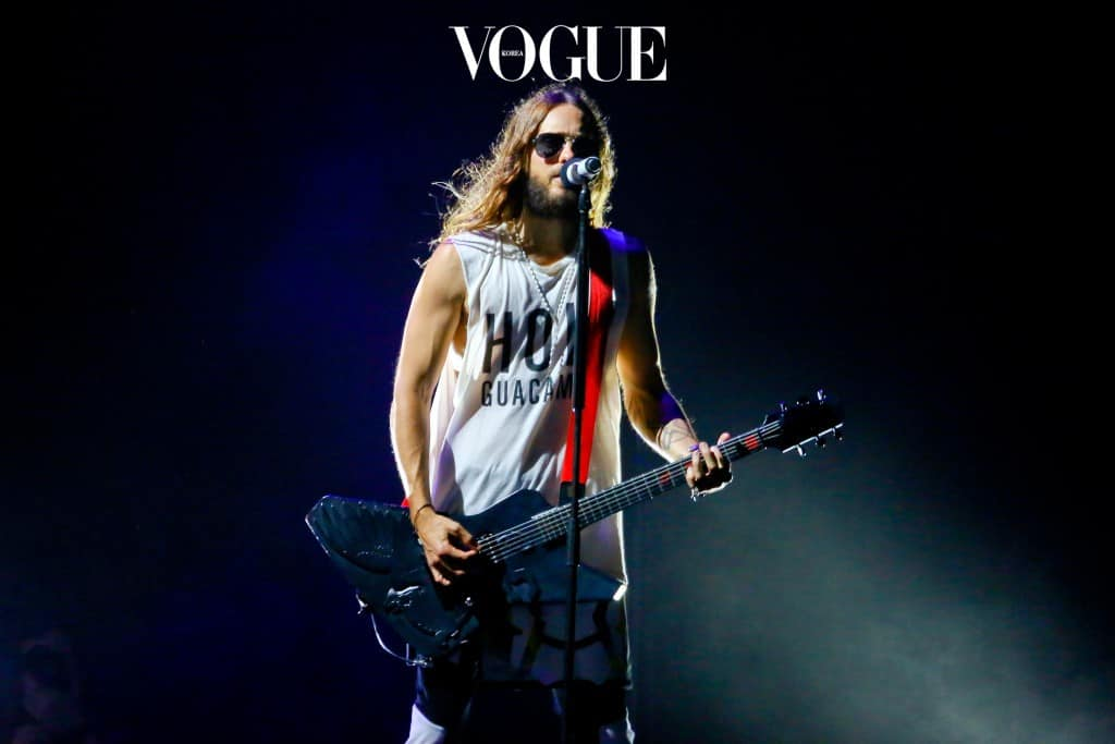 UK CLIENTS MUST CREDIT: AKM-GSI ONLY The boys from Thirty Seconds to Mars performing Rio. The band will perform 6 concerts in Brazil before heading to Paraguay. Pictured: Thirty Seconds to Mars Ref: SPL869607  181014   Picture by: AKM-GSI / Splash News