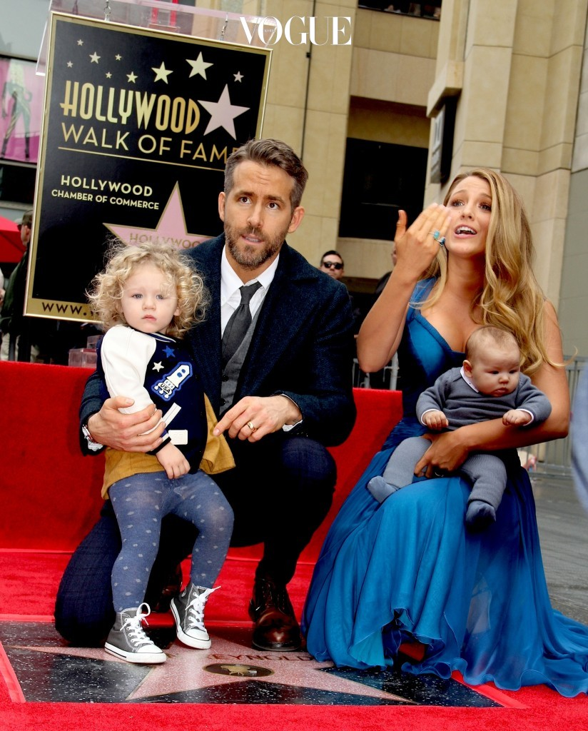 Ryan Reynolds is honored and receives a Star On The Hollywood Walk Of Fame. Pictured: Ryan Reynolds and Blake Lively with daughter James Reynolds Ref: SPL1411635  151216   Picture by: Splash News / Clinton H.Wallac Splash News and Pictures Los Angeles:310-821-2666 New York:212-619-2666 London:870-934-2666 photodesk@splashnews.com