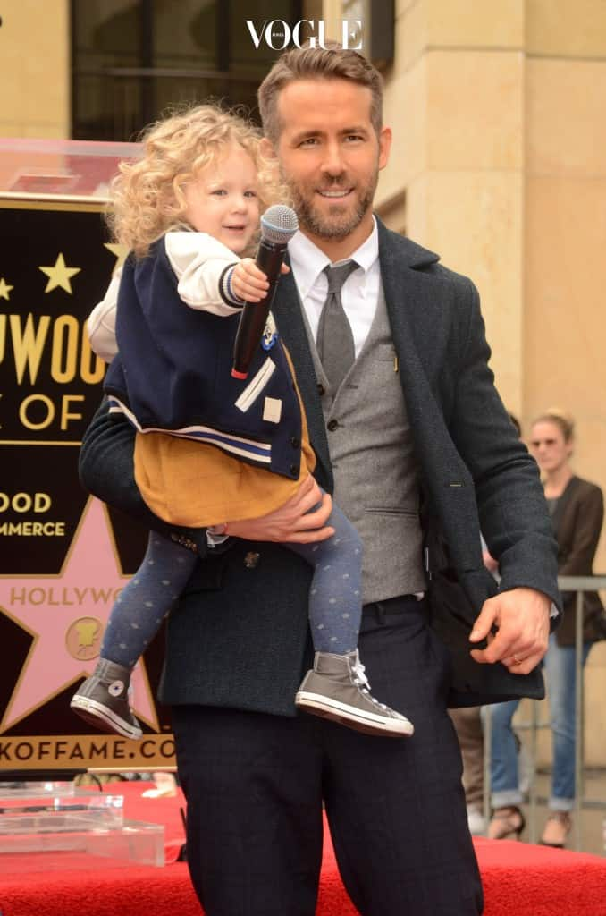 Ryan Reynolds and wife Blake Lively along side their two children make a public appearance as Ryan is honored with a star on the Hollywood Walk of Fame  Pictured: James Reynolds, Ryan Reynolds Ref: SPL1411606  151216   Picture by: Splash News Splash News and Pictures Los Angeles:310-821-2666 New York:212-619-2666 London:870-934-2666 photodesk@splashnews.com