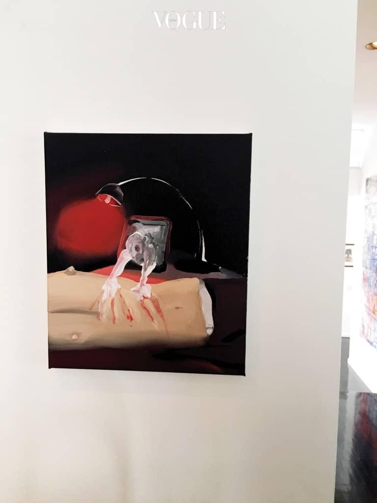'최근의 발견'인 탈라 마다니의 작품.