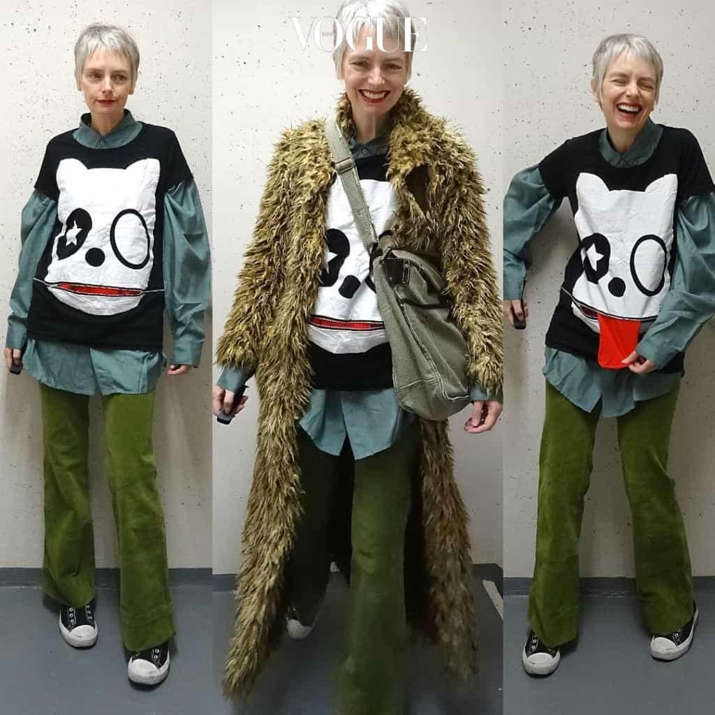 패션이 유행을 넘어선 자신을 표현하는 문화의 한 부분이라는 것을 깨닫게 해주는 그녀.