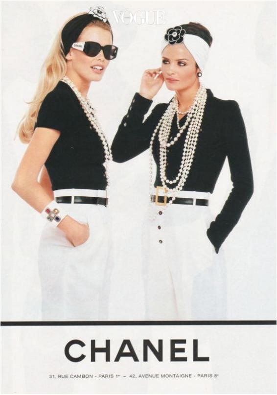 Claudia Schiffer and Helena Christensen 1995