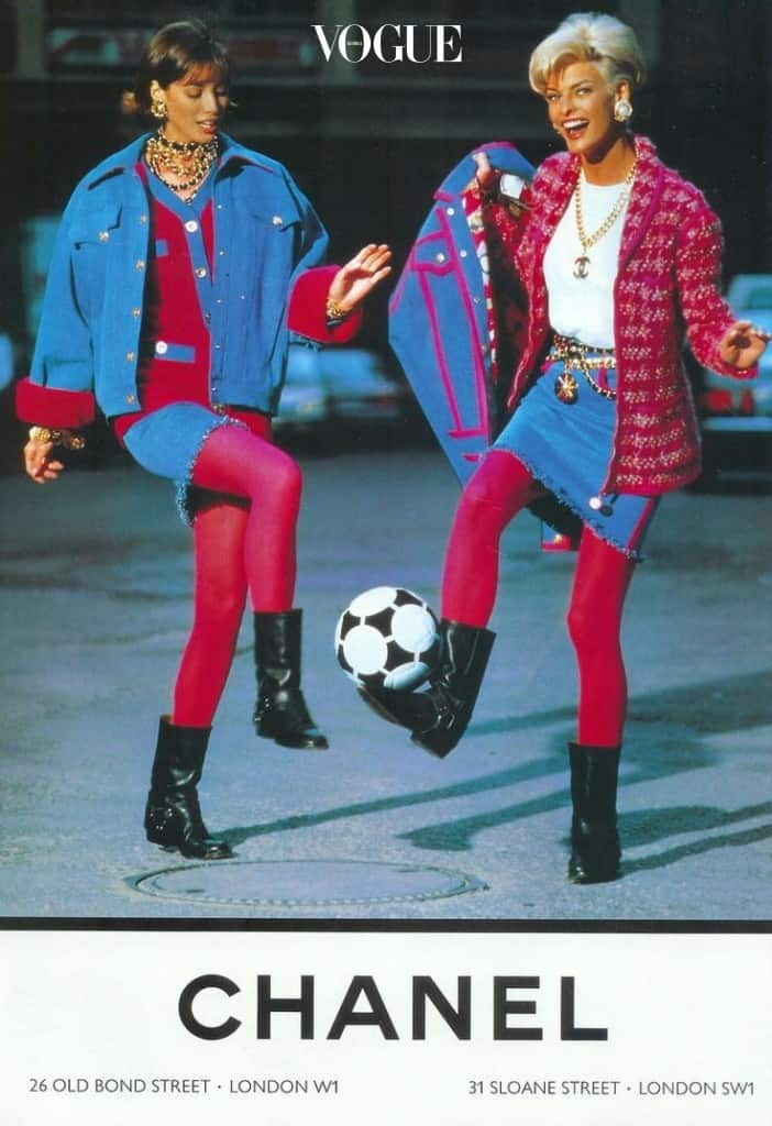 Linda Evangelista & Christy Turlington for CHANEL 1991