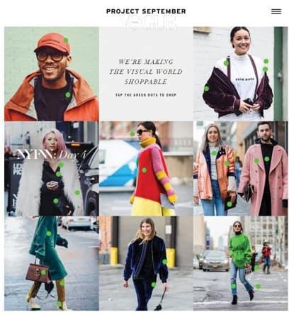 작년 미국에서 선보인 '프로젝트 셉템버'는 온라인 쇼핑에 독특한 서비스를 더한 모델. 인스타그램 피드를 보듯 런웨이 사진이나 스트리트 패션 사진이 뜬다. 그리고 각 이미지에 등장한 옷과 같거나 비슷한 옷을 살 수 있는 사이트로 연결해준다. 예를 들면 최소라가 뉴욕 패션 위크에서 찍힌 사진을 클릭하면 스텔라 맥카트니의 레오퍼드 코트, 생로랑 숄더백을 살 수 있는 마이테레사로 연결되는 식. 프로젝트 셉템버는 여기서 일정 부분의 커미션을 얻는다.