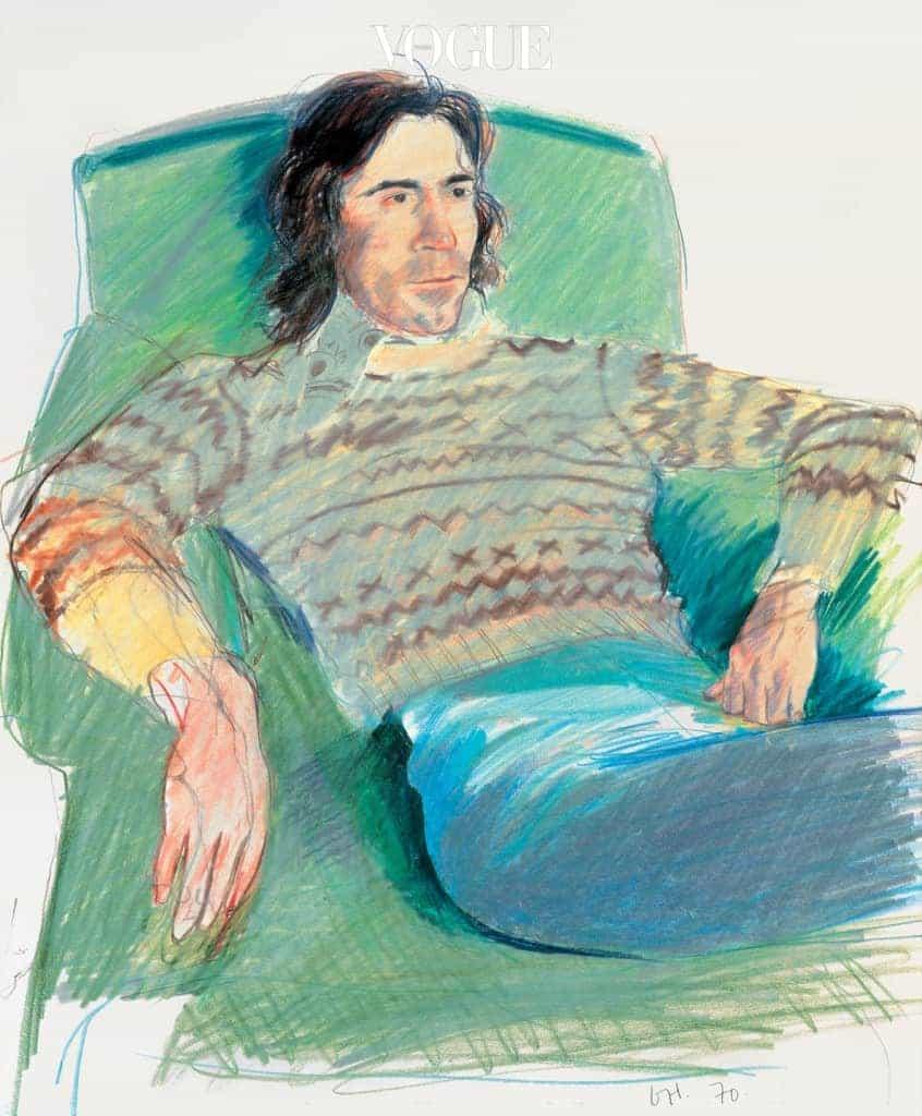 'Ossie Wearing a Fairisle Sweater'(1970) 데이비드 호크니의 뮤즈였던 셀리아 버트웰의 남편 오시 클락 또한 호크니에게 종종 피사체가 되었다.