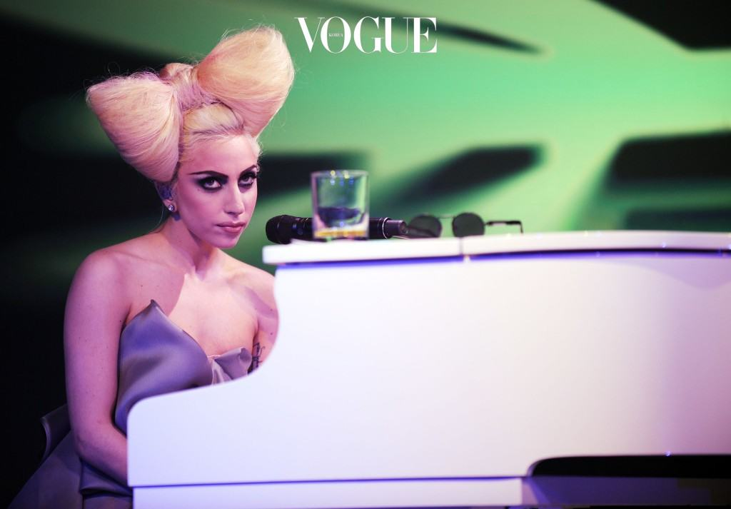 NEW YORK - DECEMBER 08:  Lady Gaga performs at the launch of VEVO, the world's premiere destination for premium music video and entertainmentat Skylight Studio on December 8, 2009 in New York City.  (Photo by Bryan Bedder/Getty Images for VEVO)