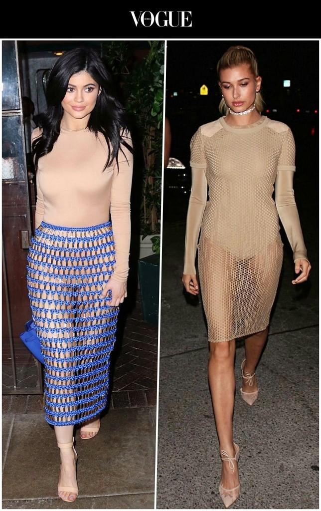 물론, 평상시에도 아무렇지 않게 잘 입고 다니는 여인들도 있습니다만… 카일리 제너 Kylie Jenner/ 헤일리 볼드윈 Hailey Baldwin