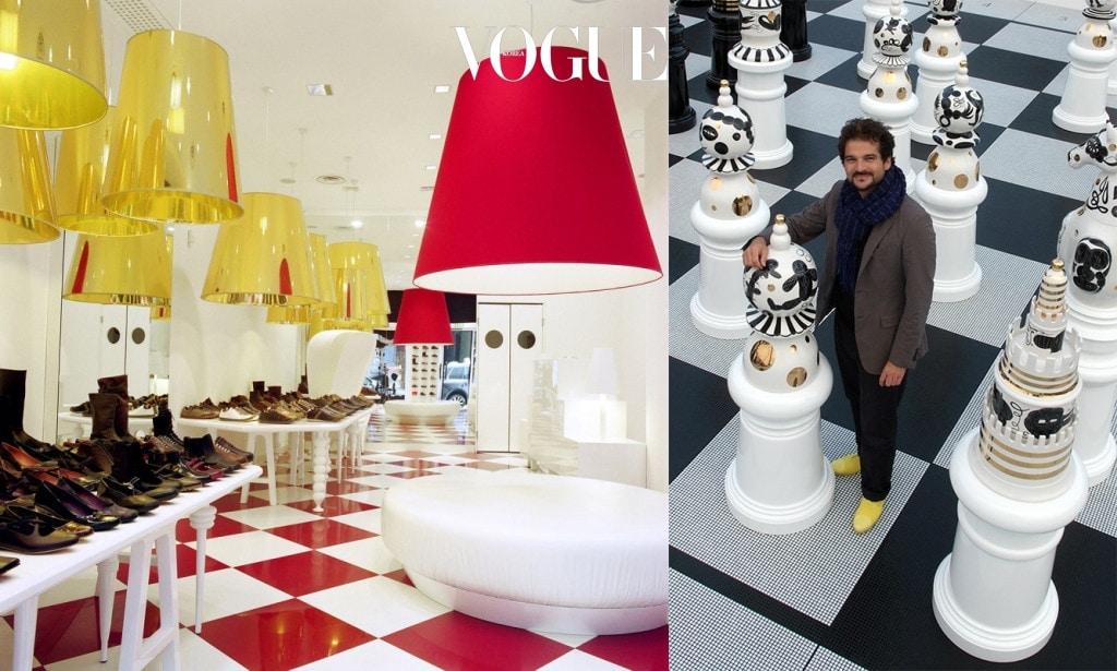 캠퍼의 밀라노 쇼룸 인테리어와 (Camper Showroom in Milan via Montenapoleone)와 London Design Festival 2009에서 선보인 'The Tournament'