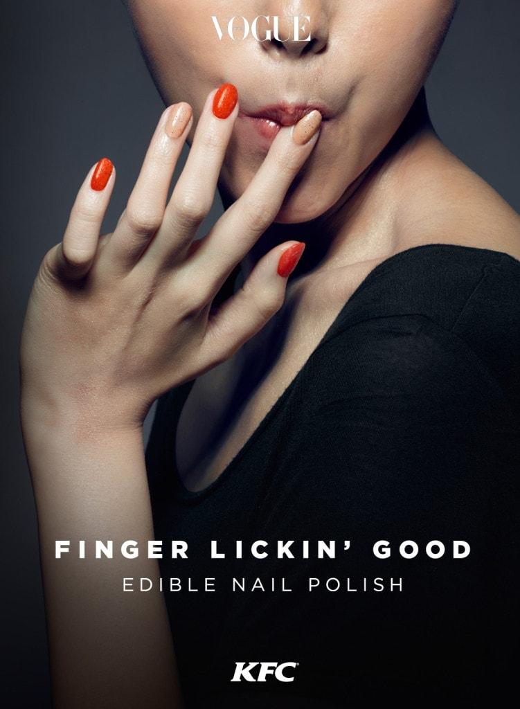 일명 'Finger Lickin' Good' 네일 폴리시는 두 가지 맛, 아니 색상으로 선보인답니다!  펄이 가득한 누드 색상의 오리지날과 강렬한 빨간 색상의 핫 앤 스파이시 맛. 허기가 질 땐 손가락을 슬쩍 깨물어도 좋겠군요! 아쉽게도 지금은 품절상태로 재입고를 기다려 봐야겠군요.