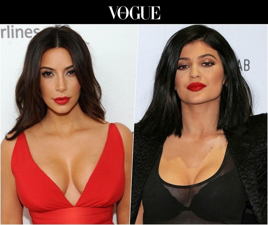 이는 실제로 스타들도 많이 활용하는 팁으로, 좋은 예 Kim Kardashian / 나쁜 예 Kylie Jenner