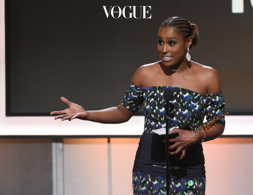 BEVERLY HILLS, CA - FEBRUARY 17:  Honoree Issa Rae accepts the Rising Star Award onstage during BET Presents the American Black Film Festival Honors on February 17, 2017 in Beverly Hills, California.  (Photo by Kevin Winter/Getty Images)
