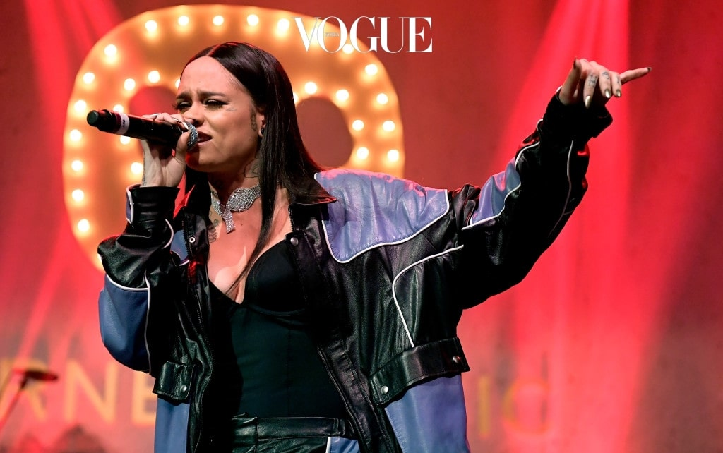 HOLLYWOOD, CA - FEBRUARY 12:  Musician Kehlani performs at the Warner Music Group GRAMMY Party at Milk Studios on February 12, 2017 in Hollywood, California.  (Photo by Matt Winkelmeyer/Getty Images)